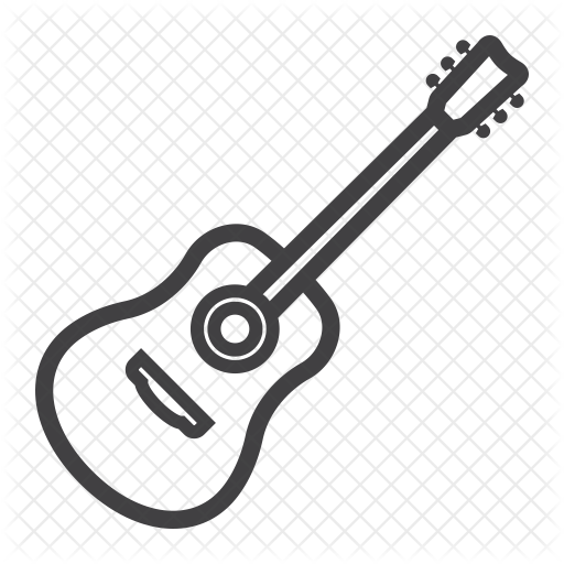 transparent download Acoustic Guitar Line Drawing at GetDrawings