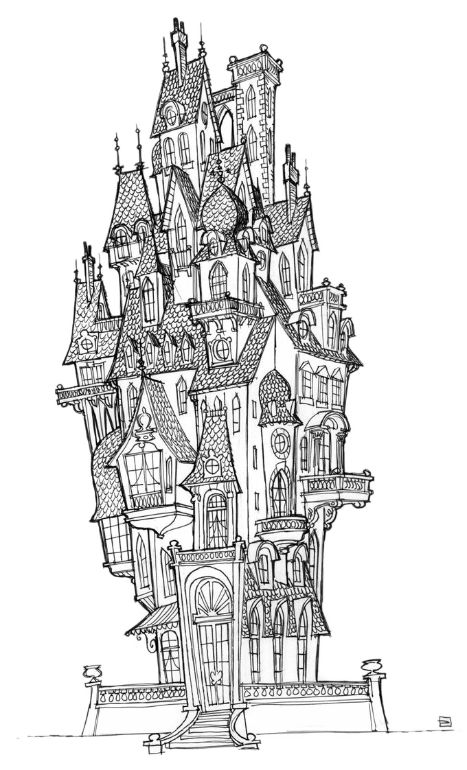 freeuse library Visual arts concept art. China drawing castle