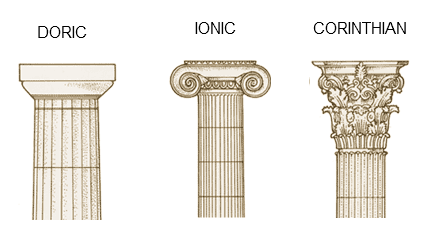 clip transparent stock Difference Between Greek and Roman Architecture of Antiquity