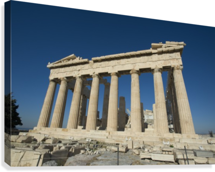 image freeuse Parthenon athens pacificstock canvas. Acropolis drawing greece ancient