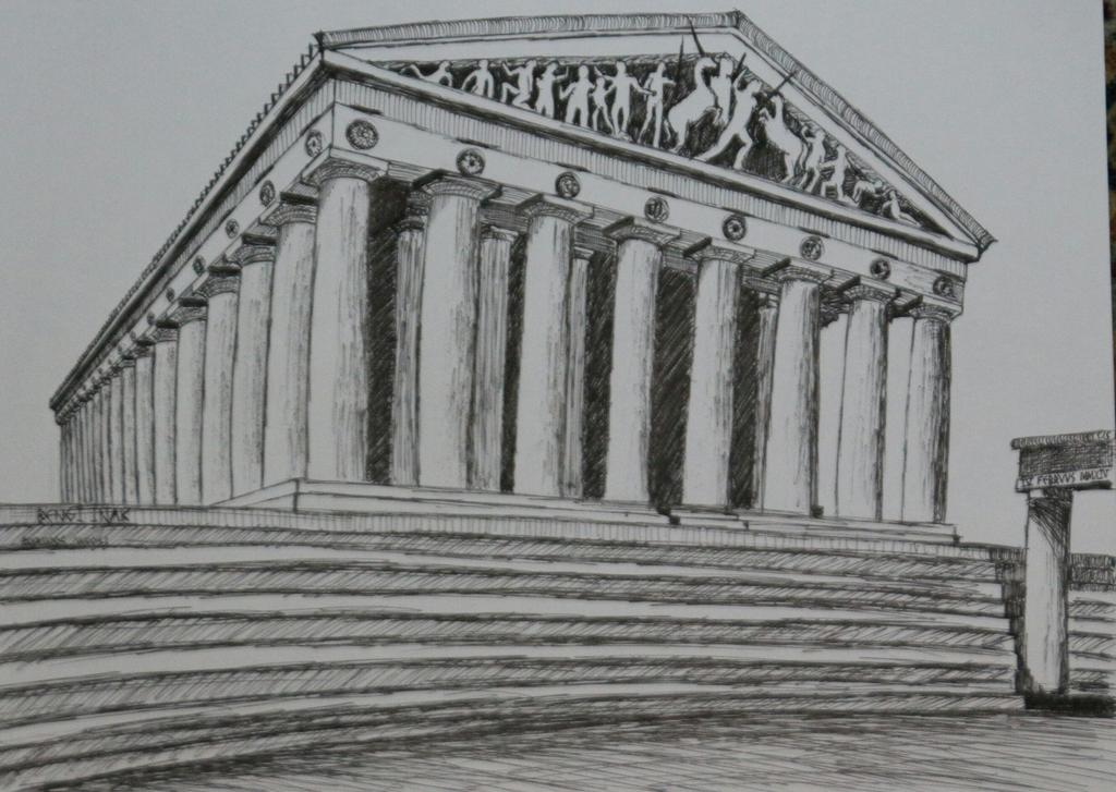 clipart freeuse download Greek parthenon by bengiinak. Acropolis drawing greece ancient