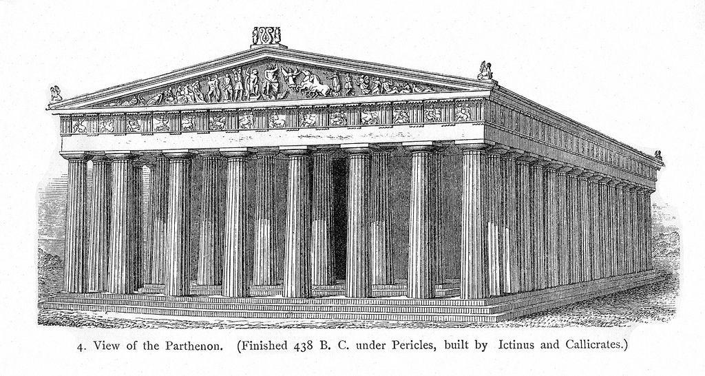 vector library library All sizes parthenon reconstruction. Acropolis drawing greece ancient