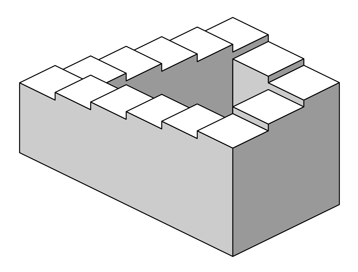 vector freeuse stock Penrose stairs