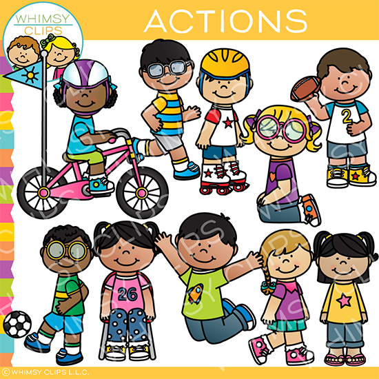 image free library Action clipart. Kids clip art