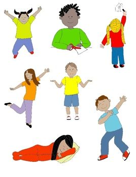 vector freeuse Action clipart cute. Kids in clip art