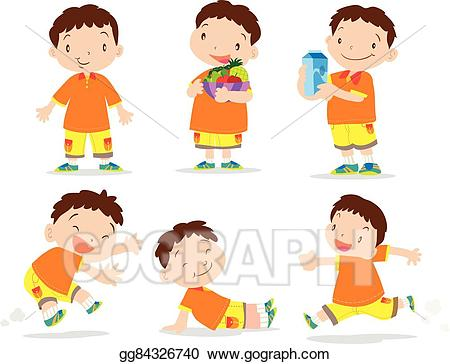 picture royalty free download Vector boy cartoon many. Action clipart cute