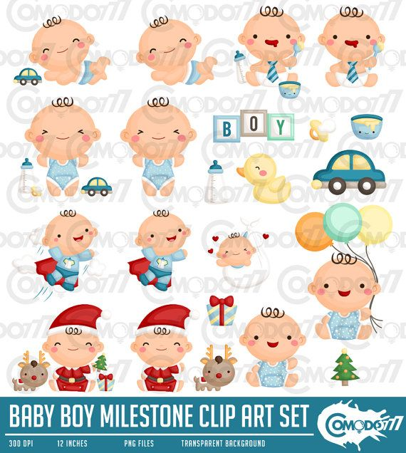 clipart royalty free library Action clipart cute. Baby boy milestone newborn
