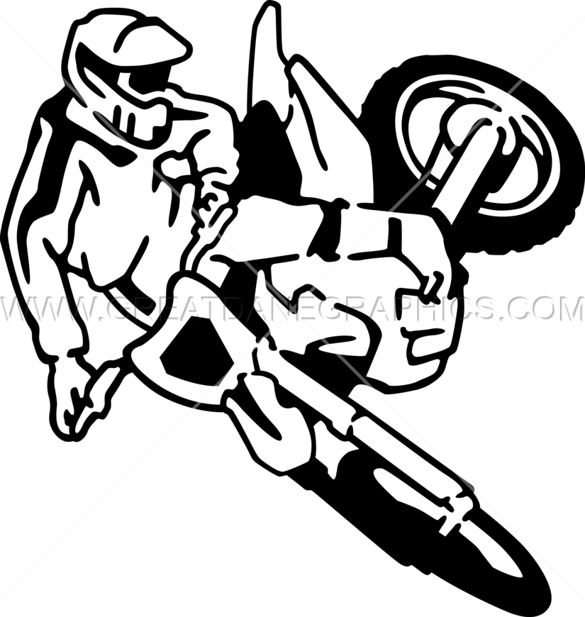 svg royalty free stock Action clipart drawing. Dirt bike at getdrawings.