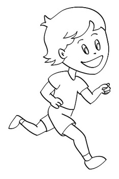 png freeuse download Black and white . Action clipart drawing.