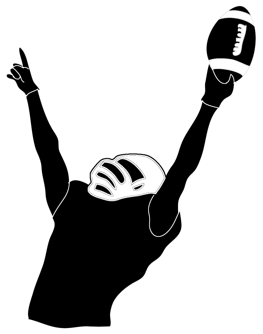 free stock Victory pinterest players victoryfootballplayer. Action clipart football player