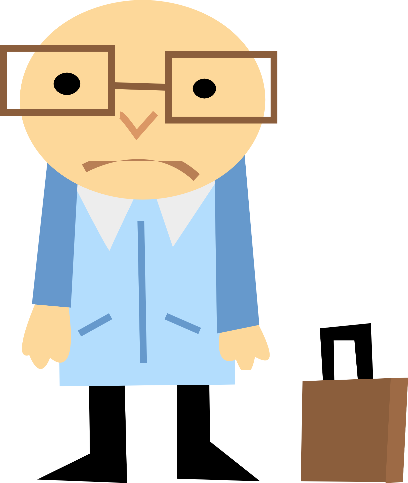 vector free stock Stay or go how. Businessman clipart worried.