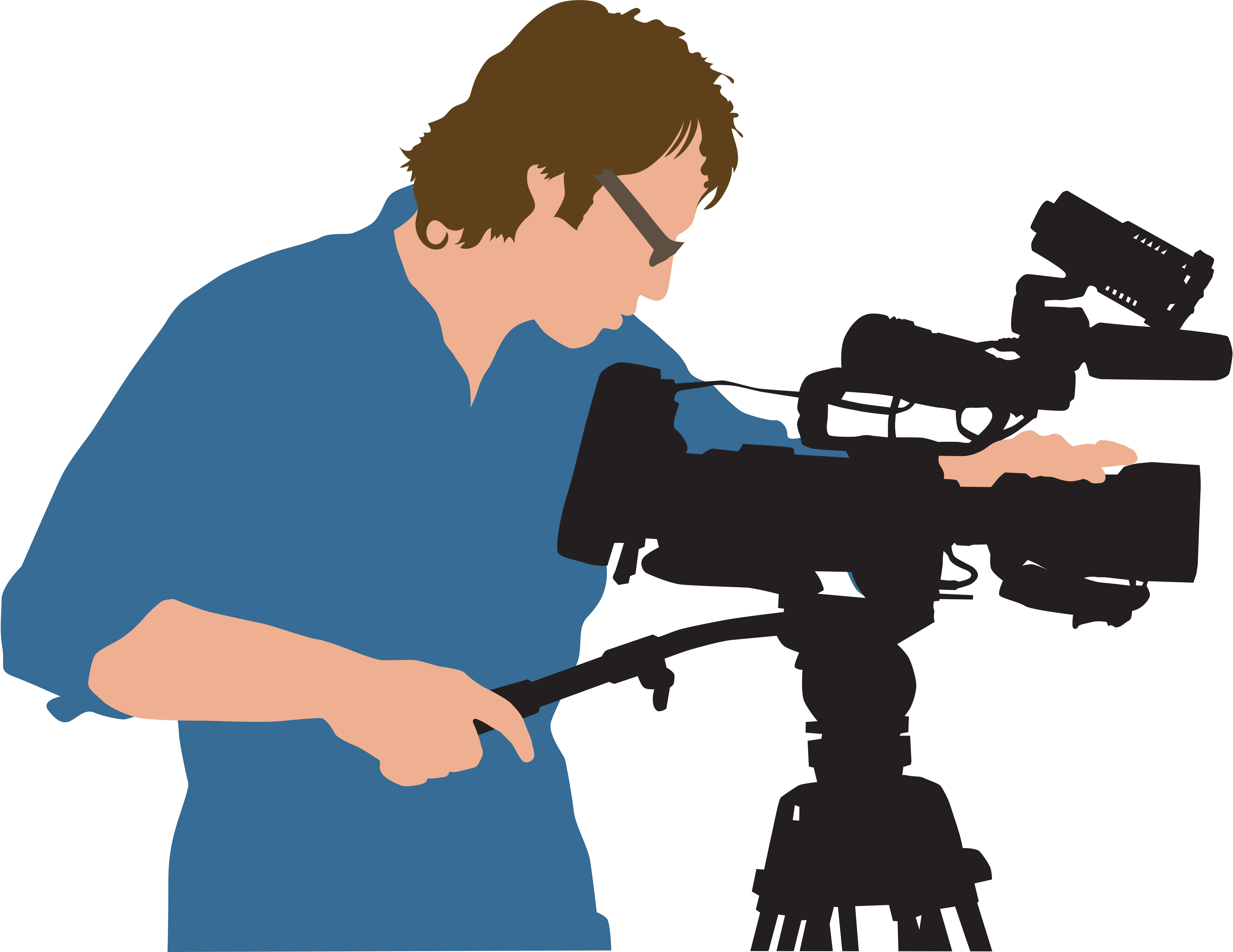 png library download Camera person free on. Action clipart video equipment