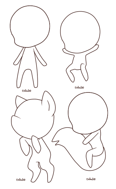 clip art stock Chibi base by eelball. References drawing basic