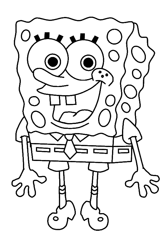 graphic library library Cute spongebob smile pages. Usa drawing coloring page
