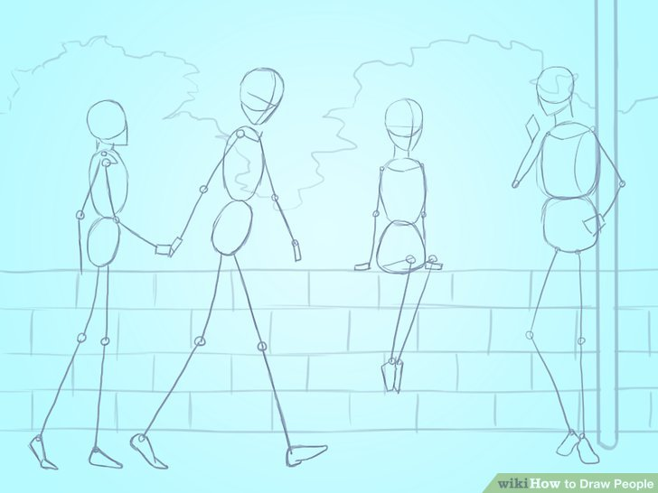 clipart transparent Drawing technique person.  basic ways to
