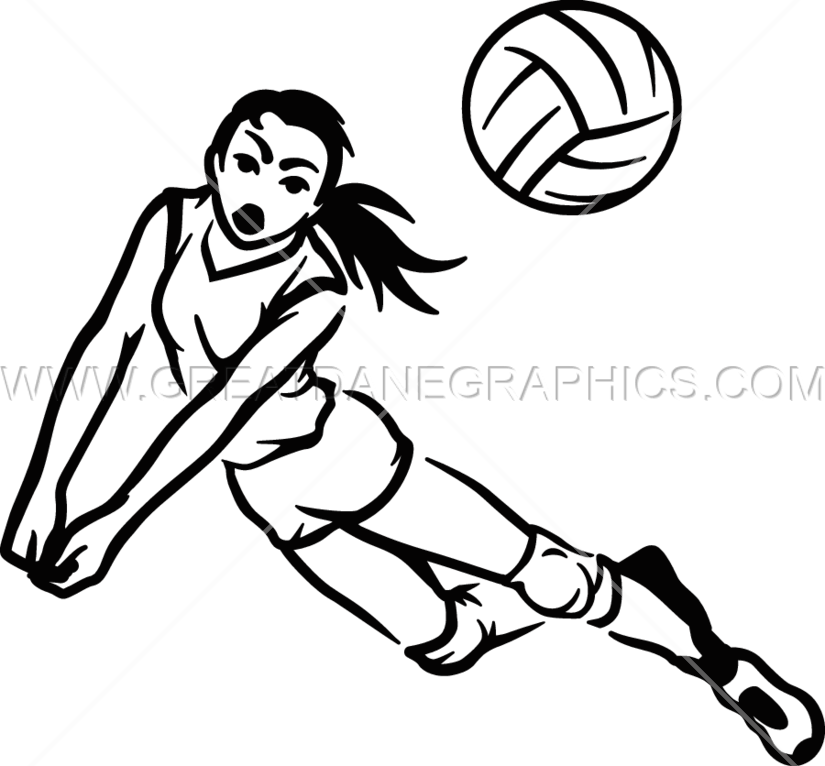 png library stock Volleyball Player Drawing at GetDrawings
