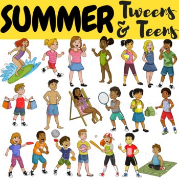 graphic royalty free Activities clipart. Summer tweens teens .