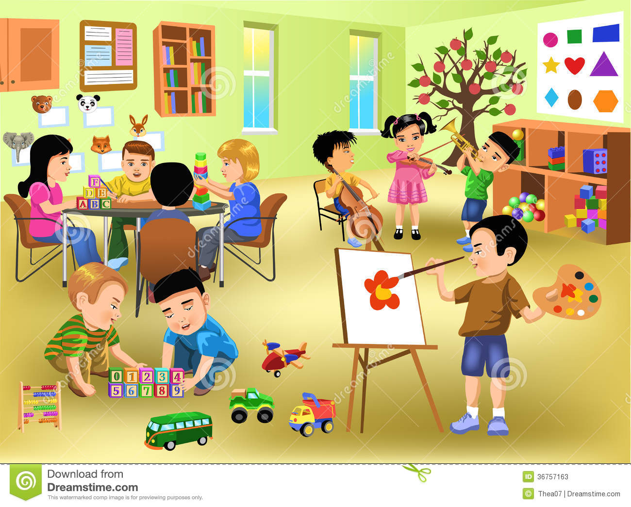 royalty free stock . Activities clipart classroom