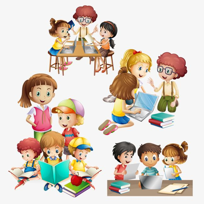 free stock Vector many kids do. Activities clipart different