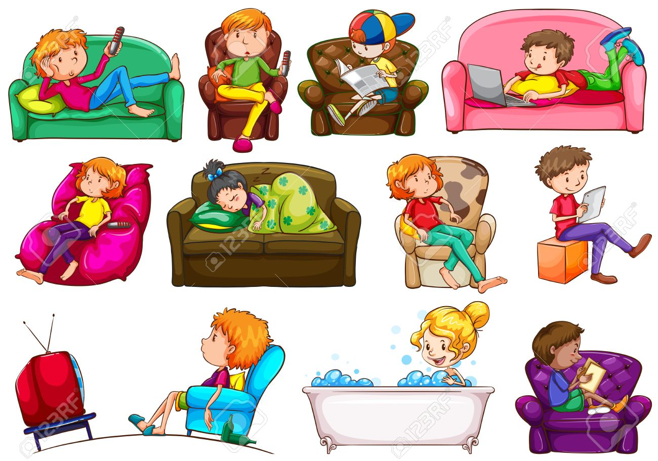 clipart black and white library Activities clipart different. People doing station