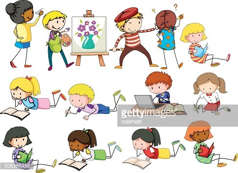 image black and white download Activities clipart different. People doing image