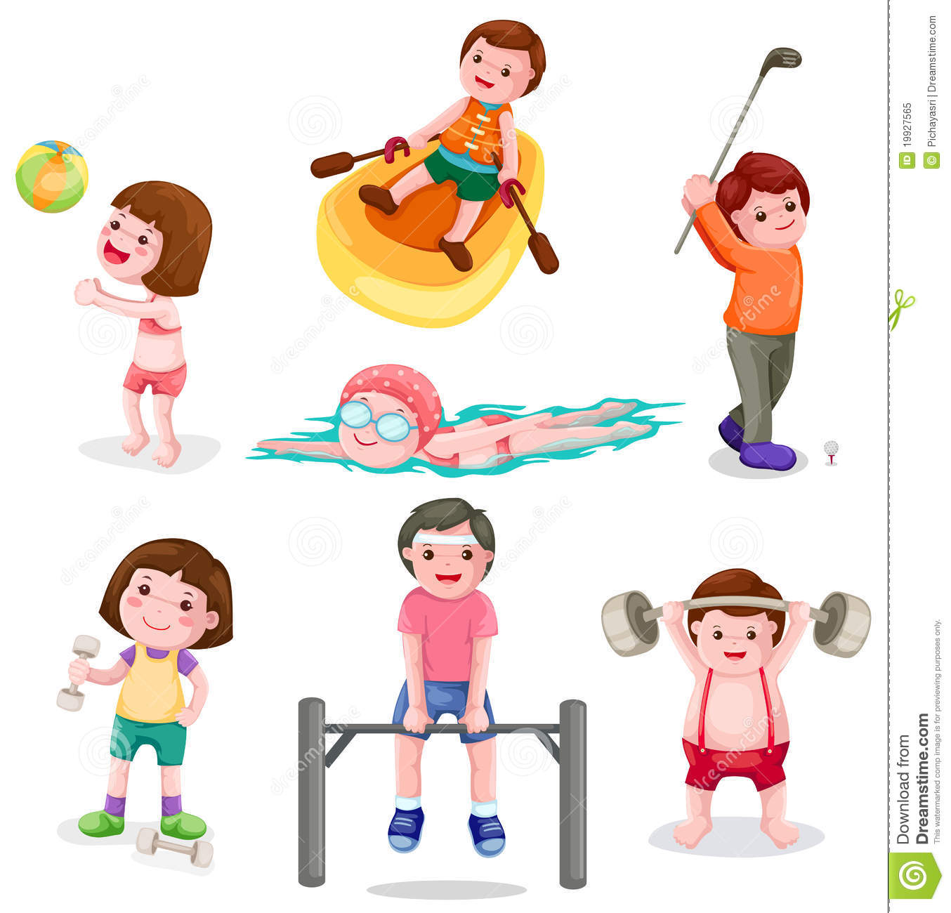image black and white stock Exercising transparent . Activities clipart everyday activity