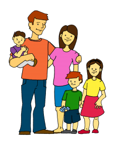 banner freeuse stock Meet our members st. Activities clipart happy family