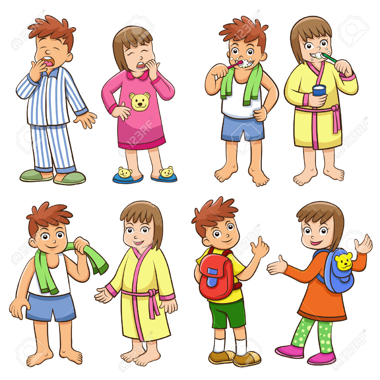banner free download Daily routine look at. Activities clipart life