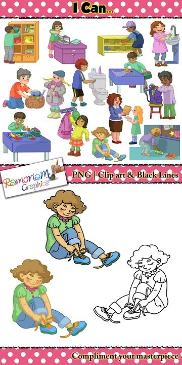 picture transparent stock Activities clipart life. Routines and skills clip