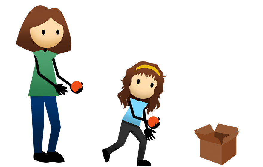 svg freeuse library Active for bucket toss. Activities clipart life