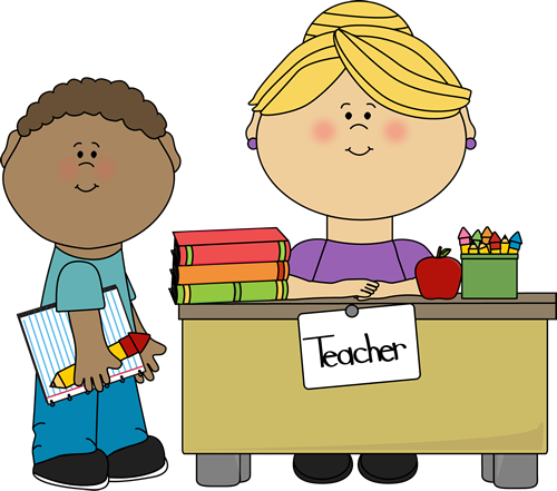 banner royalty free download Boy student at teacher. Activities clipart teaching