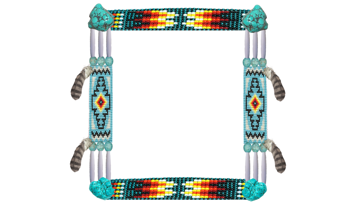 banner black and white stock Addition clipart border. Native american frame by