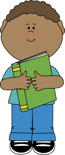 jpg library Addition clipart boy. With book