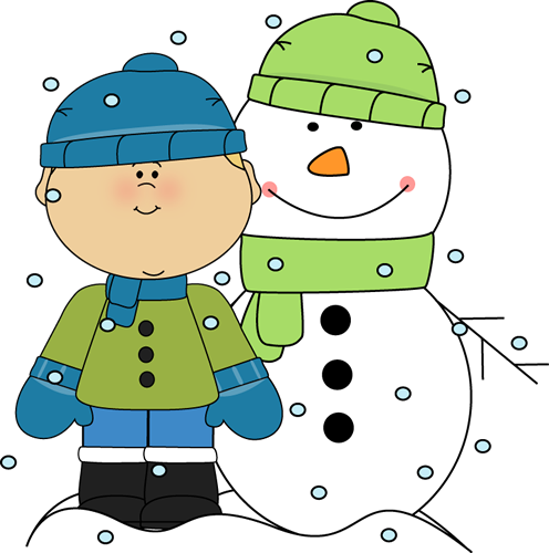 jpg freeuse library Winter clipart. Clip art images boy