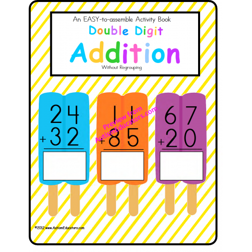 clip transparent download Addition clipart primary math. Double digit activity book