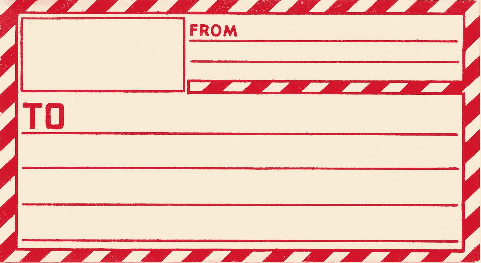 image library stock Mailing cliparts zone . Address label clipart