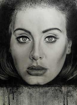 graphic freeuse download A portrait of Adele with pencils and charcoal