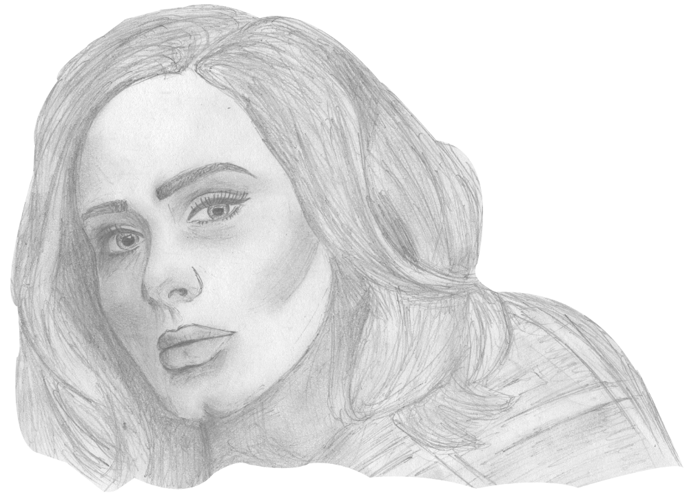 vector free library adele drawing sketch #109426642