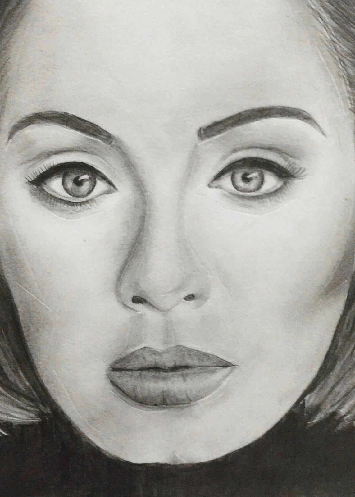 graphic royalty free STEP BY STEP PROCESS OF DRAWING ADELE