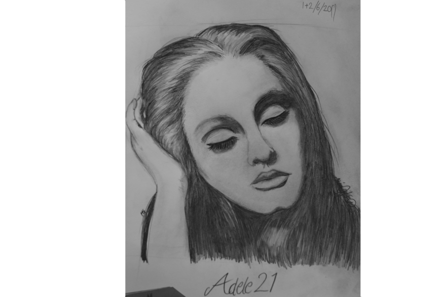 clip art library download Drawing portrait beginner. Adele from by artruntelskerillo