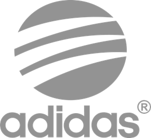 graphic black and white stock Adidas Style Logo Vector