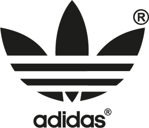 clipart black and white stock Adidas Logo Vectors Free Download
