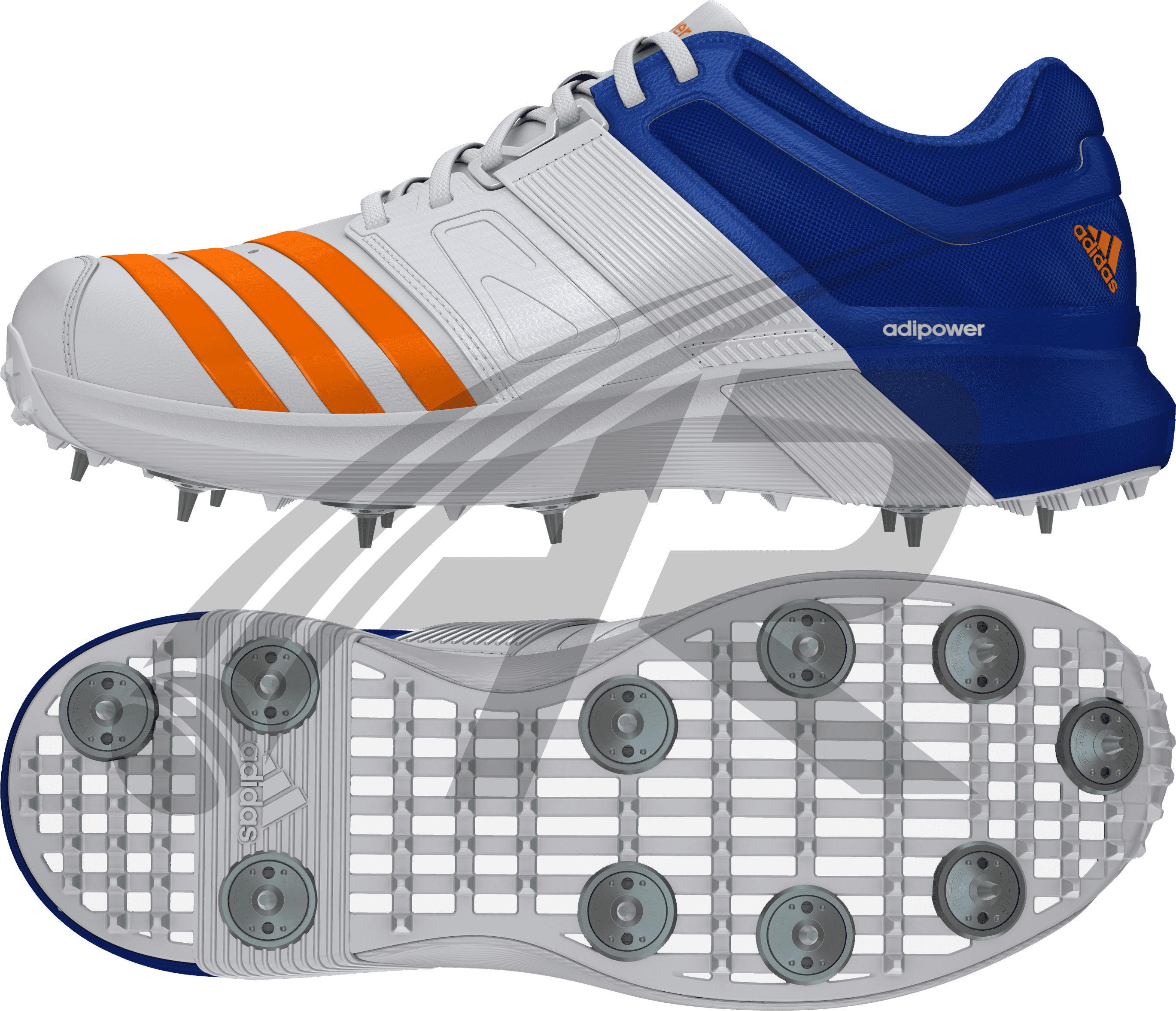 transparent Adidas Adipower Vector Cricket Shoes