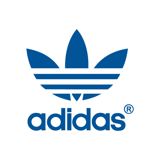 png black and white library Adidas Trefoil logo in