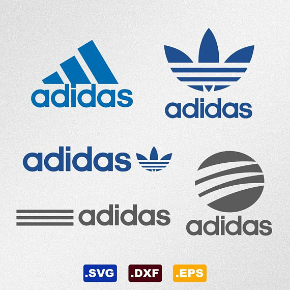 clip art stock Adidas vector silhouette. Logo svg dxf eps