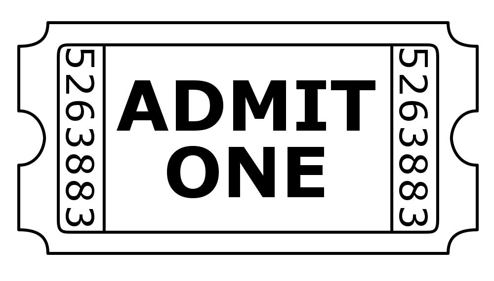 banner black and white library Free digistamps preview admit. Drawing tickets carnival