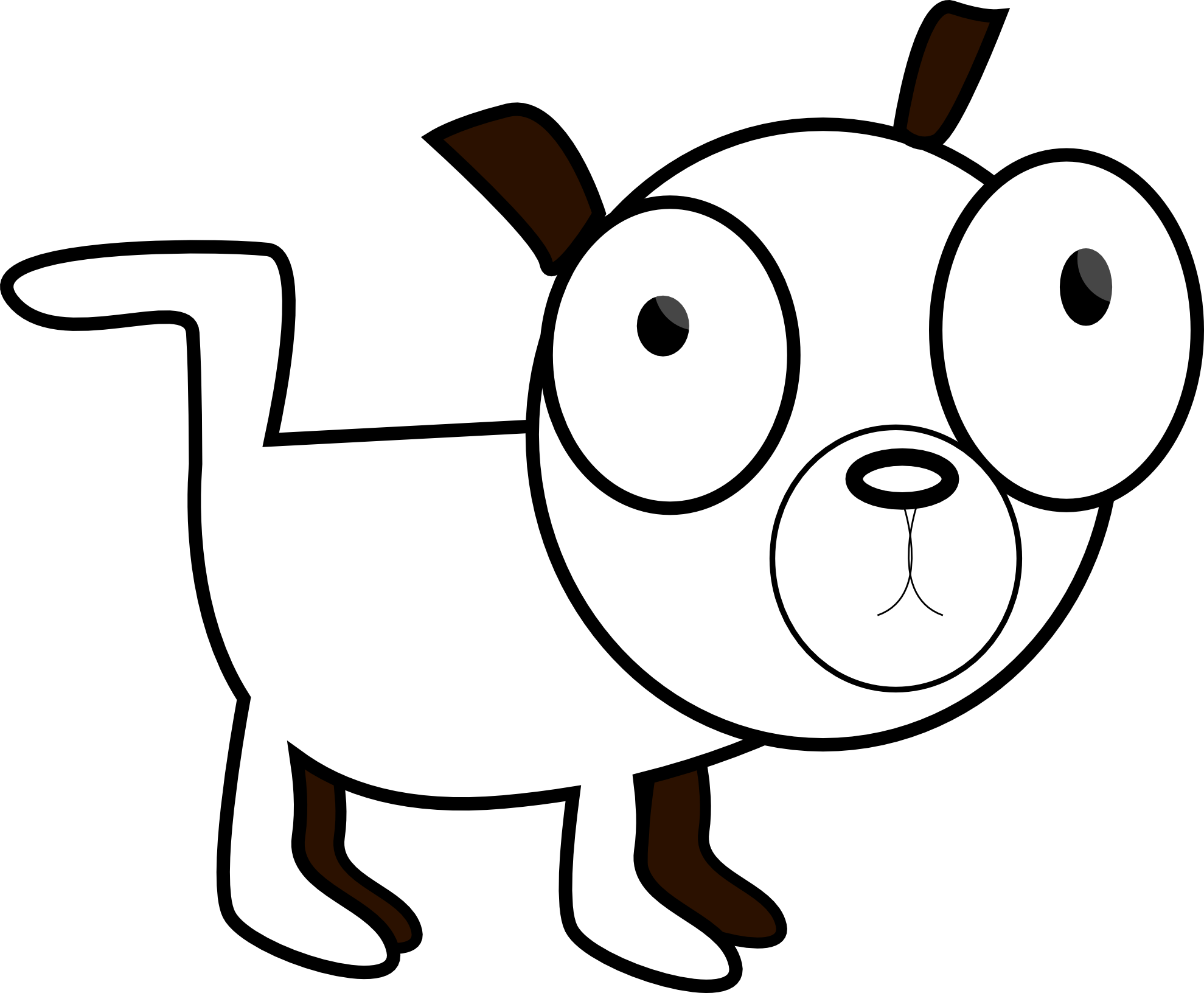 royalty free stock Dog dawg line panda. Adobe clipart black and white
