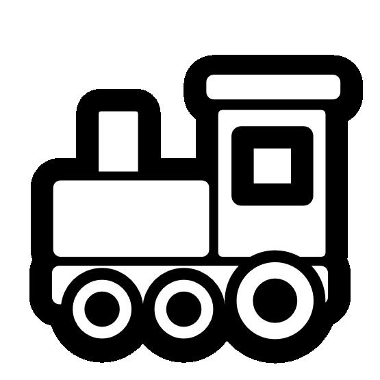 free Adobe clipart black and white. Clip art train icon