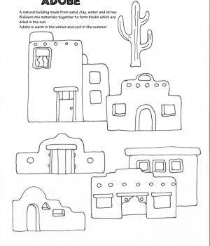 black and white library Transparent . Adobe clipart desert house