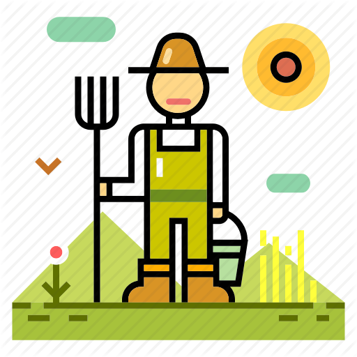 graphic freeuse stock Adobe clipart farming. Organic farm line color.